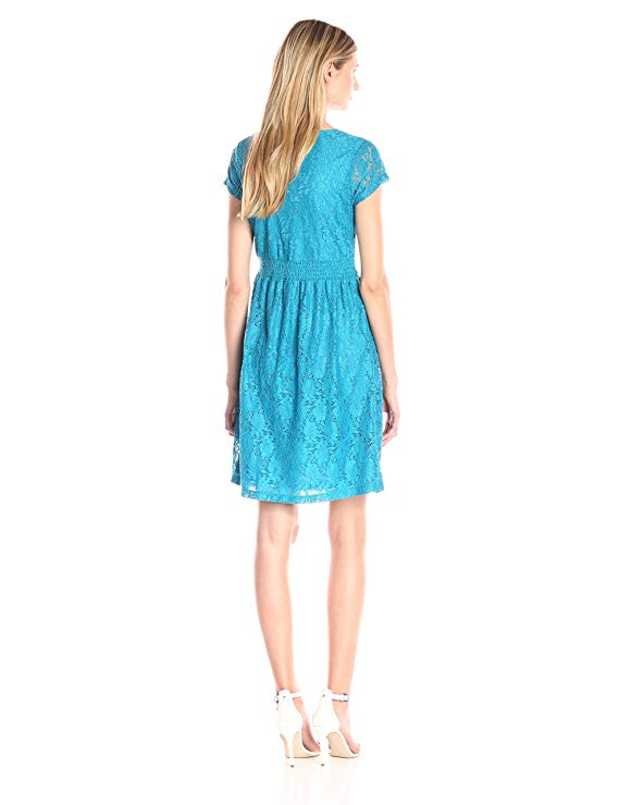Women's Floral Lace V-Neck Dress