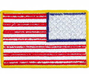 Embroidery flag patch/batch with free shipping from NY warehouse