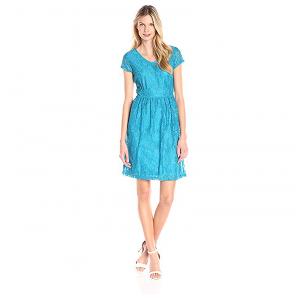Women's Floral Lace V-Neck Dress