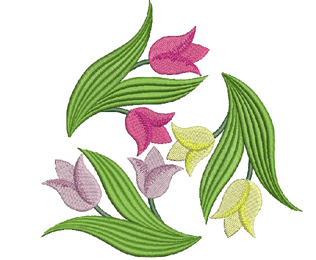 Tulips In Spring Machine Embroidery Design