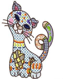 CATastrophy Machine Embroidery Design