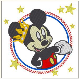 Mickey Mouse with applied embrodiery design