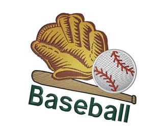 Baseball Machine Embroidery Design