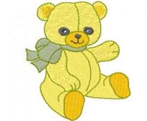 Yellow Bear Machine Embroidery Design