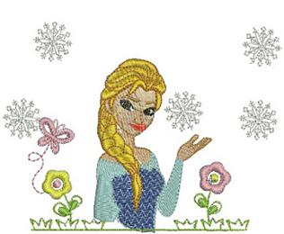 Frozen Princess Elsa Embroidery Design