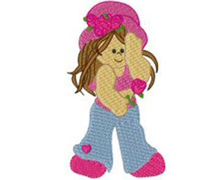 Lovely Girls Machine Embroidery Design