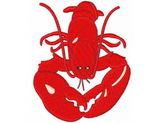 Amazing Red Lobster Embroidery Design