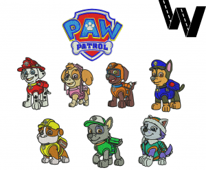 8 Paw Patrol Embroidery Designs