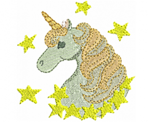 Magic Unicorn Machine Embroidery Design
