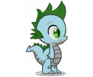Small cute dragon embroidery design