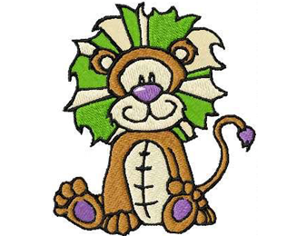Cute Small Lion Embroidery Design