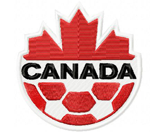 Canada National Soccer Team Machine Embroidery Design