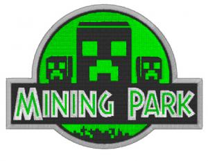Mining Park Minecraft Machine Embroidery Design
