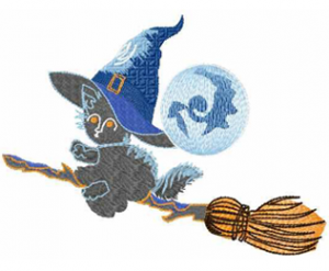 Kitty Witch - Machine Embroidery Design