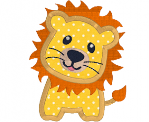 Lion for kids Applique Embroidery Machine 2 sizes