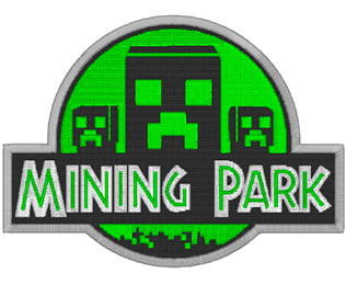 Mining Park Minecraft Machine Embroidery Design