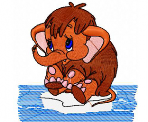 Mammoth embroidery design