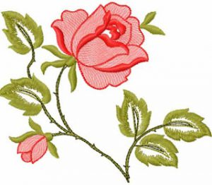 Amazing Roses free machine embroidery design