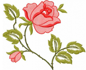 Roses free machine embroidery design