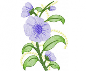 Violet-flowers-free-machine-embroidery-design