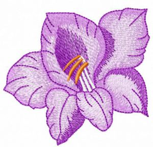 Violet_flower_embroidery_design