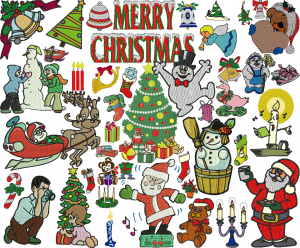 +130 Christmas Embroidery Designs Collection