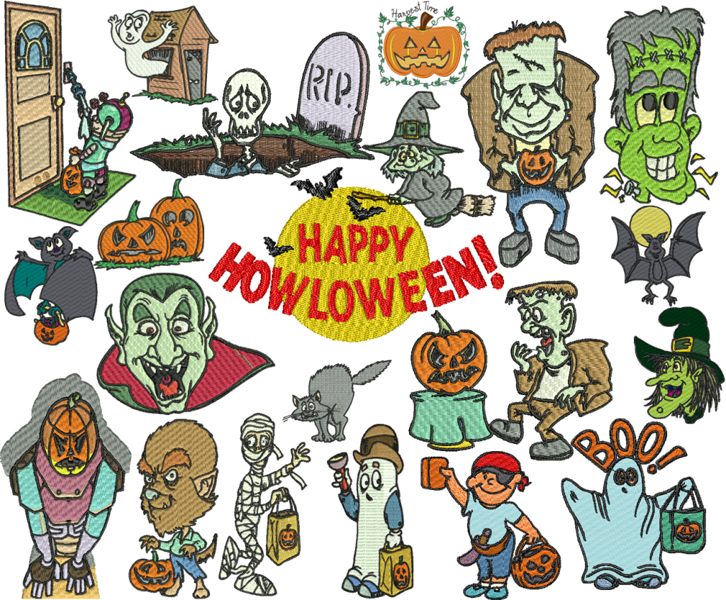 Halloween Embroidery Designs Collection