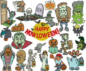+70 Halloween Embroidery Designs Collection .pes .vip .jef ... INSTANT DOWNLOAD