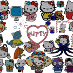 36 Kitty Machine Embroidery Designs Collection .hus .pes .dst .vip .jef … INSTANT DOWNLOAD