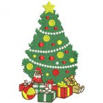 Christmas Tree Embroidery Design .hus .vip .pes .jef … INSTANT DOWNLOAD
